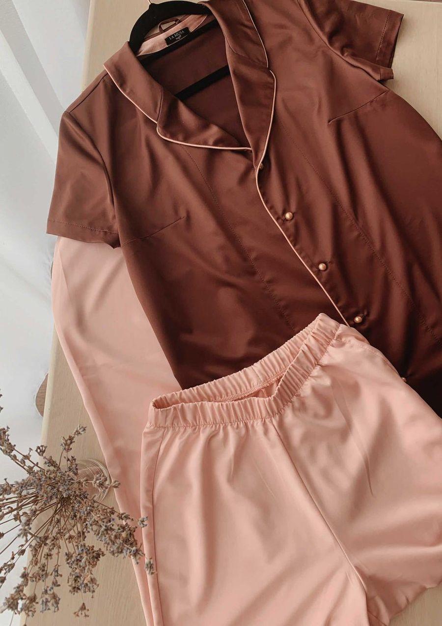 Loungewear satin VANILLA your musa comfort at home la musa Pearl chocolate