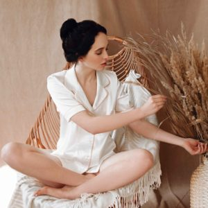 Loungewear satin Almond Milk your musa capsule la musa