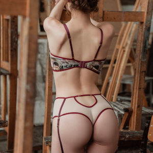 Lingerie silk ART CAPSULE your musa Notion la musa High-waisted Thong