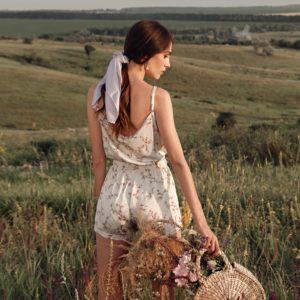 Loungewear silk Lavender Home your musa pure soft la musa