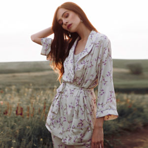 Loungewear silk Lavender Harmony your musa lazy day la musa