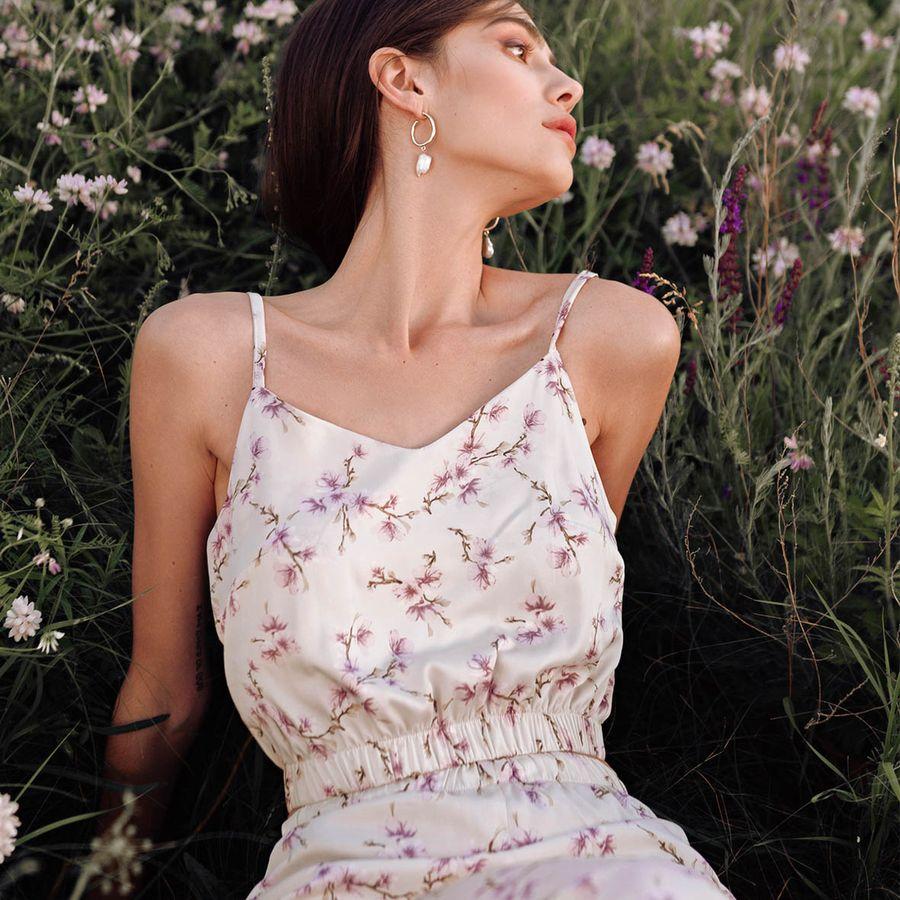 Loungewear silk Lavender Fog your musa pure soft la musa