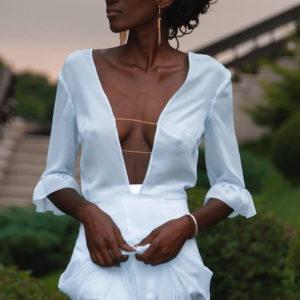 Polar Blue Dress Eveningwear Dress chiffon your musa Сastel fashion luxe