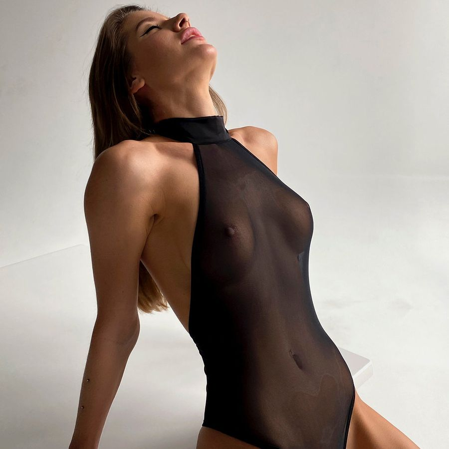 Lingerie net Transparency your musa Solo la musa black body