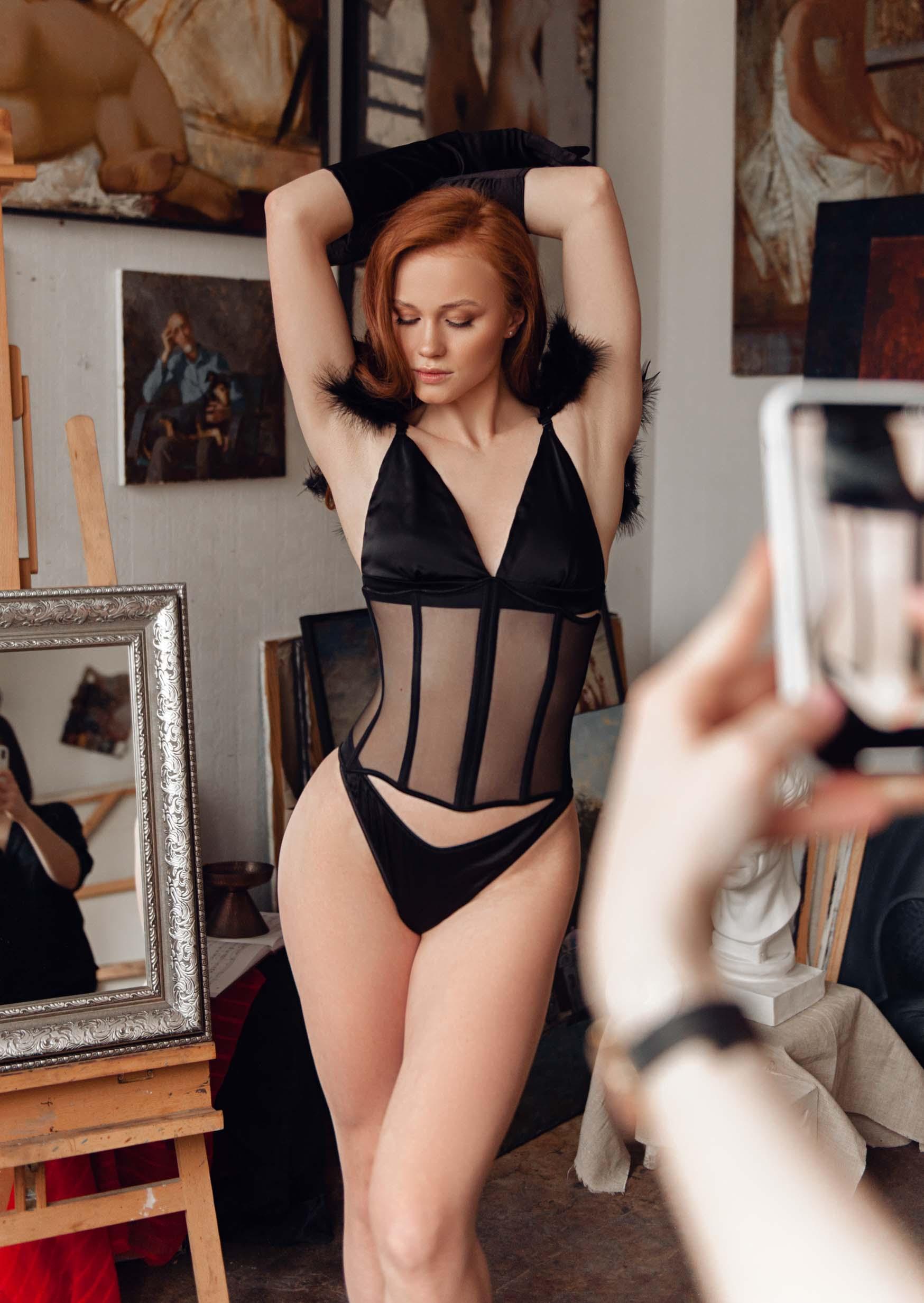 Transparent corset 2021 collection