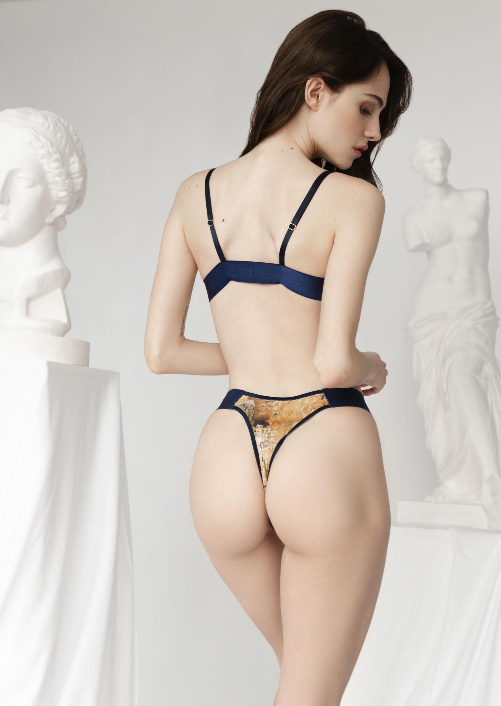 Gustav Klimt Lingerie Set Erotic Sexy Thong Bra