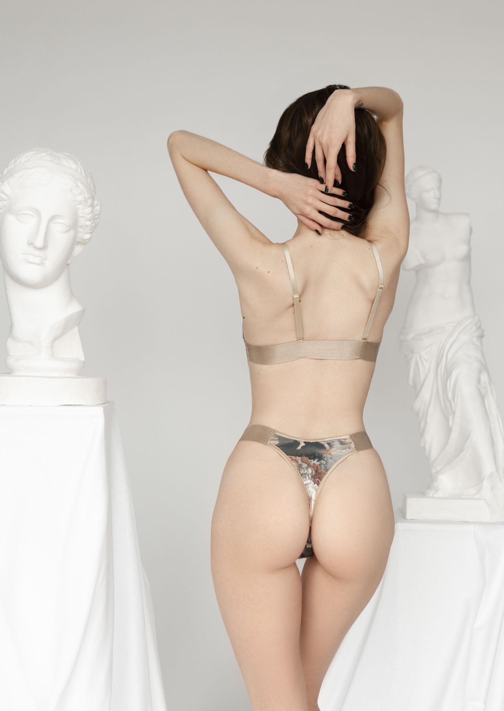 Venus erotic lingerie set renaissance print lingerie historical underwear