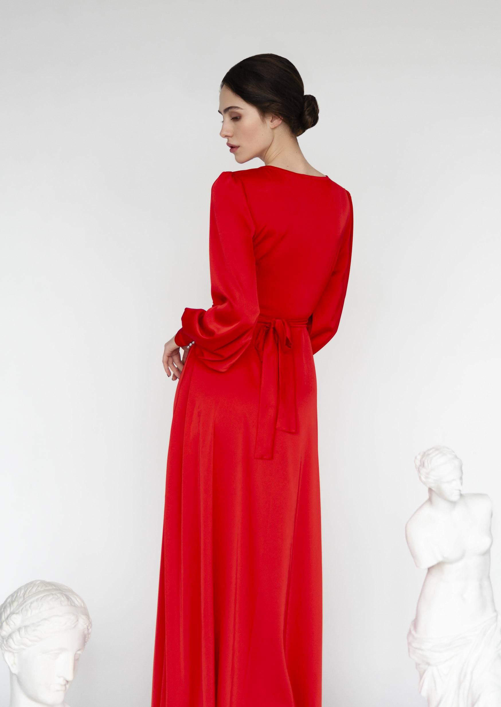 Fire fenix dress red asymmetrical grecian dress with pearl buttons