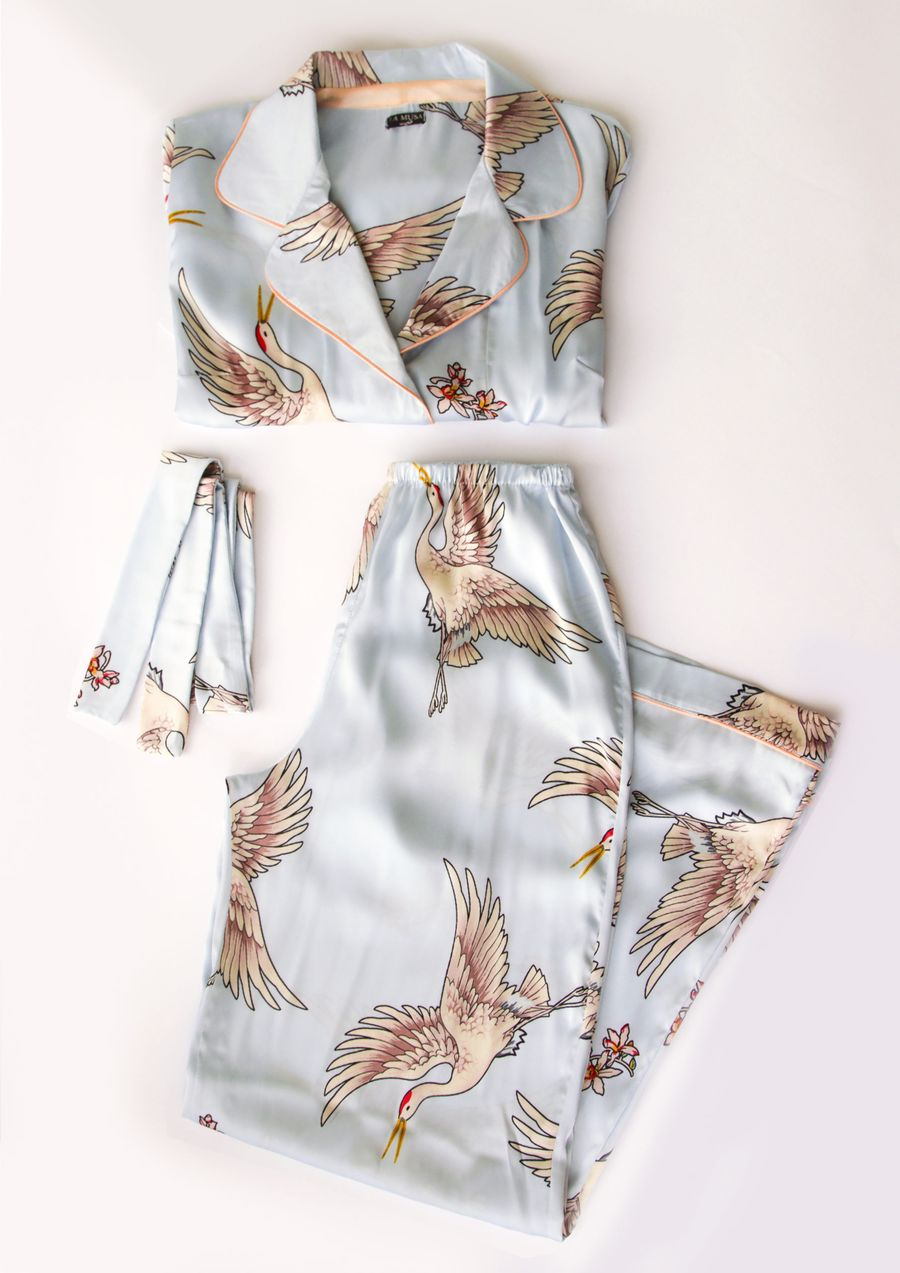 Loungewear silk Sky Bird your musa fall relax la musa