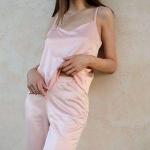 Loungewear silk Marshmello your musa Tank top la musa