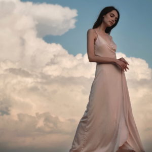 Sunrise sky Eveningwear Dress silk your musa Сastel comfy long