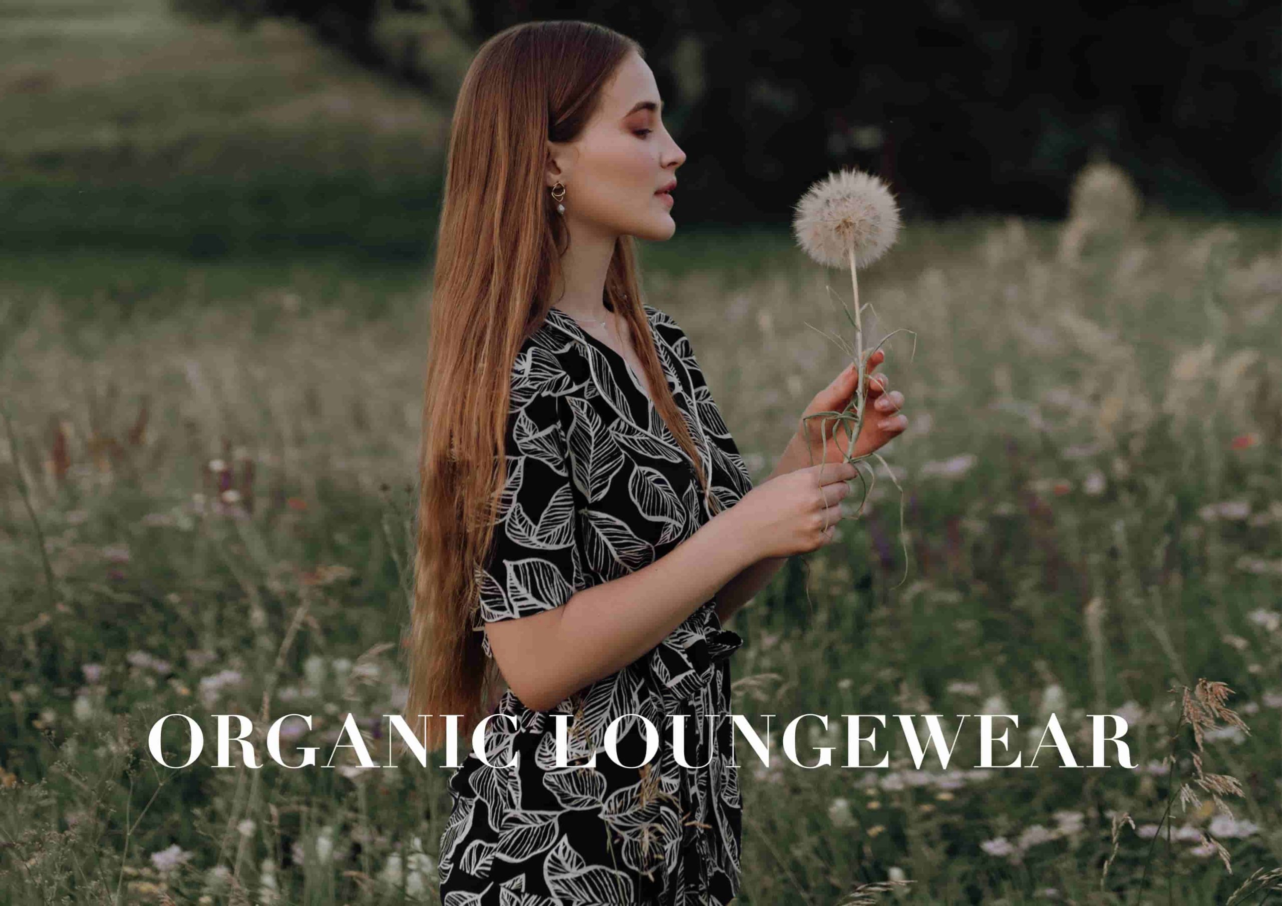 natural fabric Loungewear organic linen cotton Butterfly Garden your musa pants and long sleeve kimono la musa chic outfit