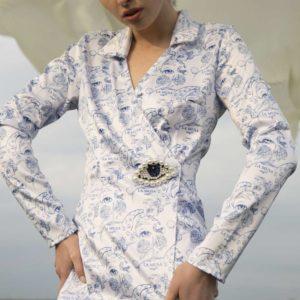 Blue Porcelain Corset Lingerie silk ART CAPSULE your musa la musa model 2020 2021