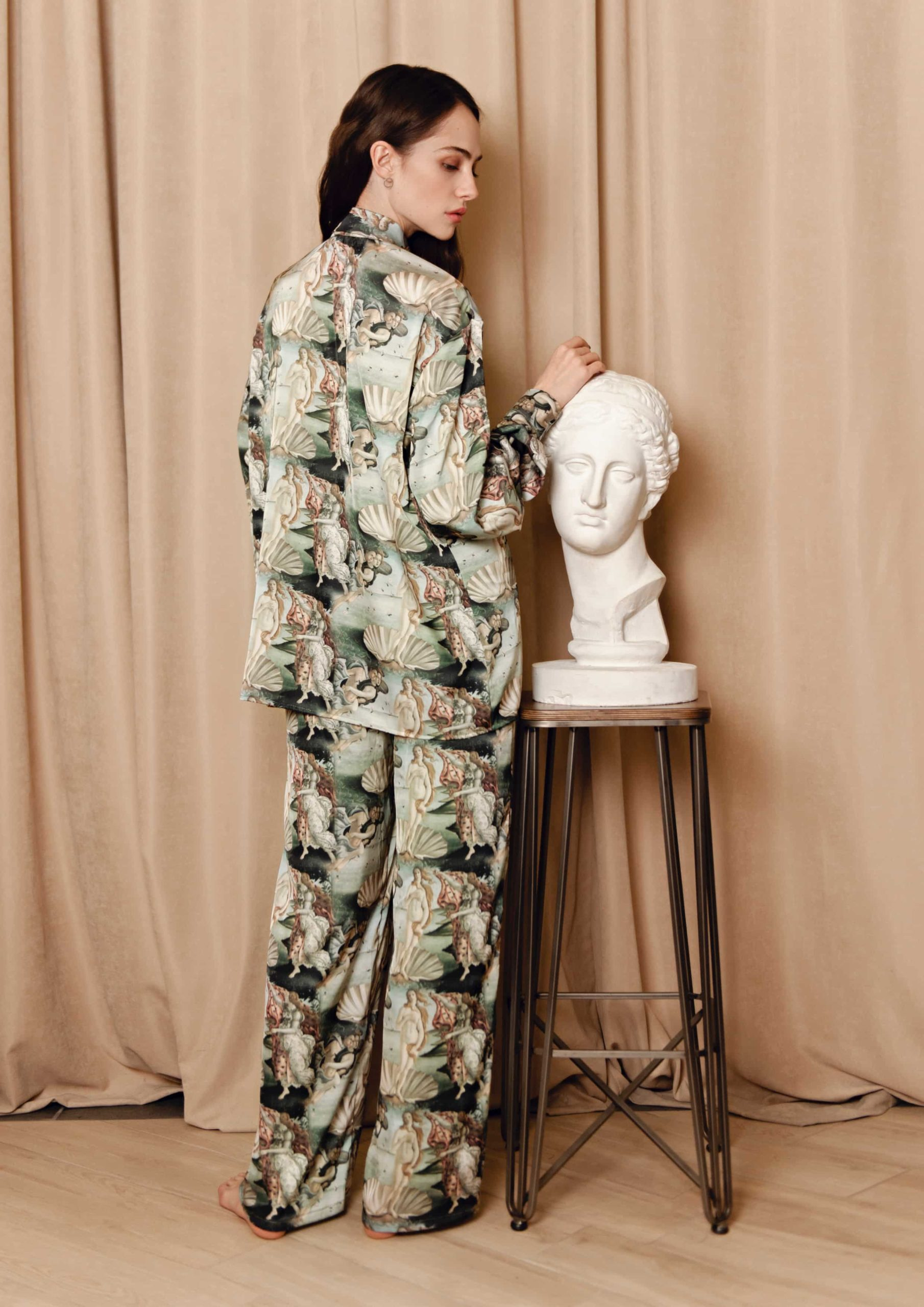 Venus Loungewear Set Muse Loungewear Set La musa elegant Silk satin