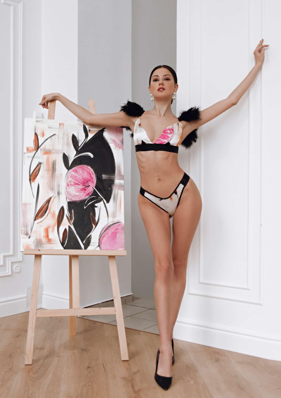 la musa Silk Expression Lingerie Set art collection fashion design photo sexy