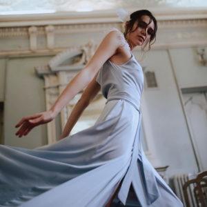 Sky Blue dress 2021 la musa style
