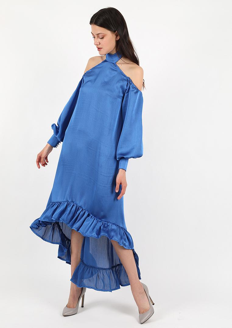blue ocean coctail midi dress