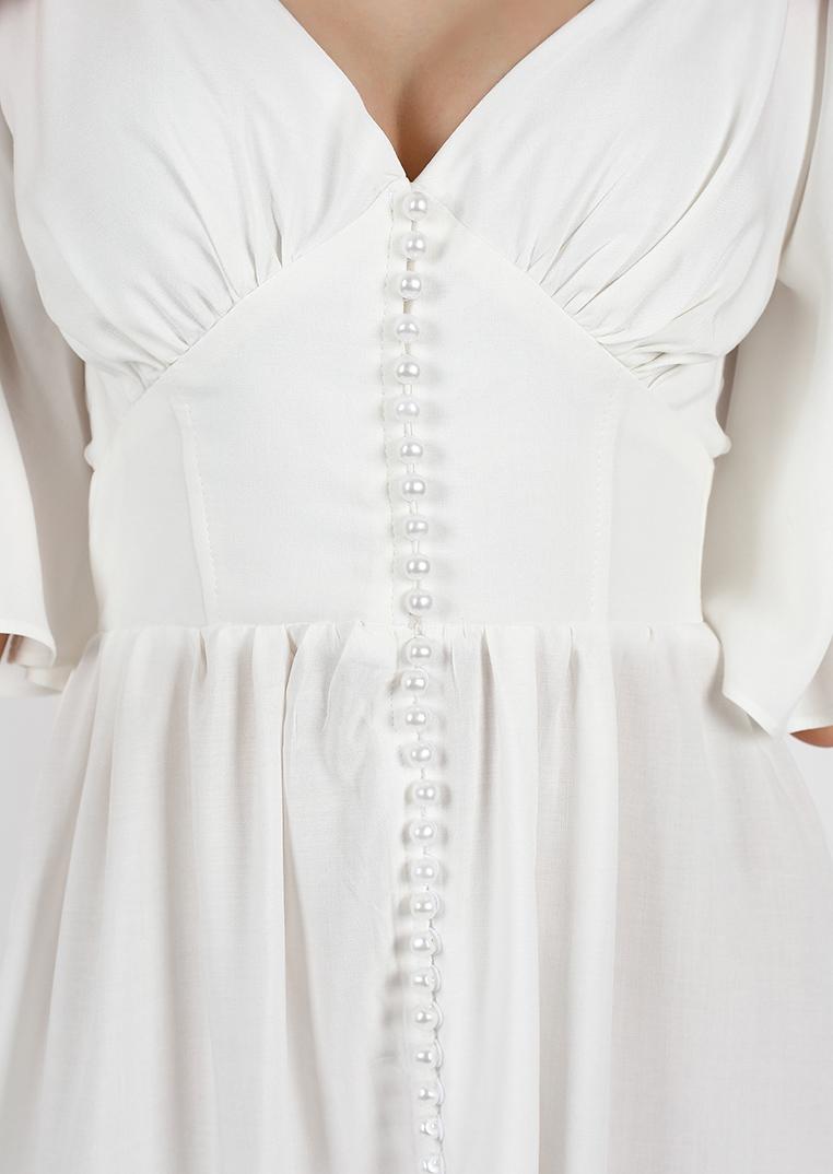 Light Pearl Midi Dress