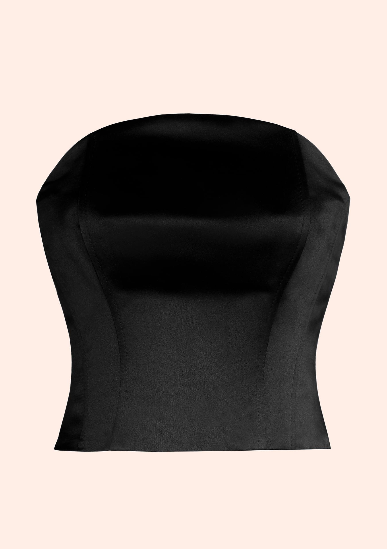 top black non wired corset