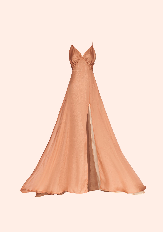 Caramel sunset dress