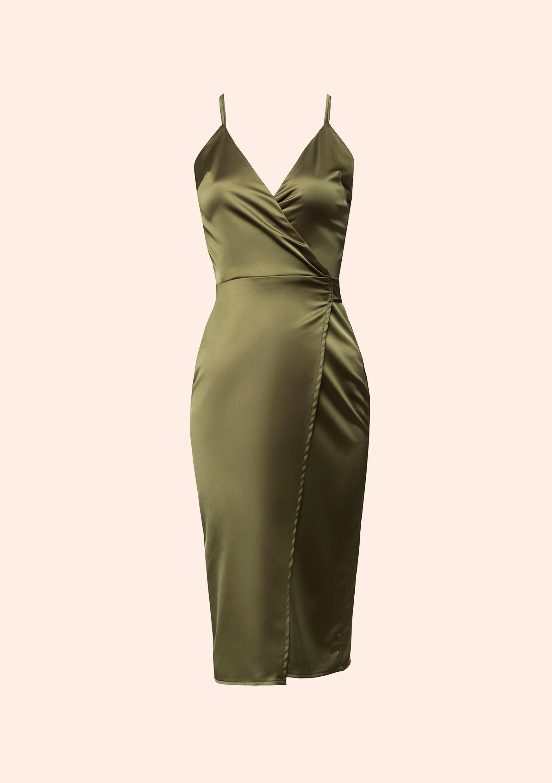 Golden olive dress