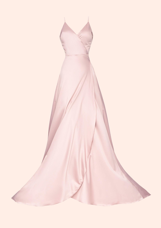Sunrise sky dress / long beige asymetrical silk slip dress / sexy wrap halter grecian goddess dress / deep neckline wedding guest dress