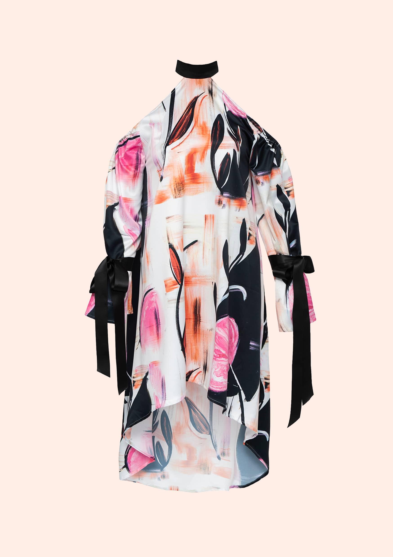 Watercolored flower dress