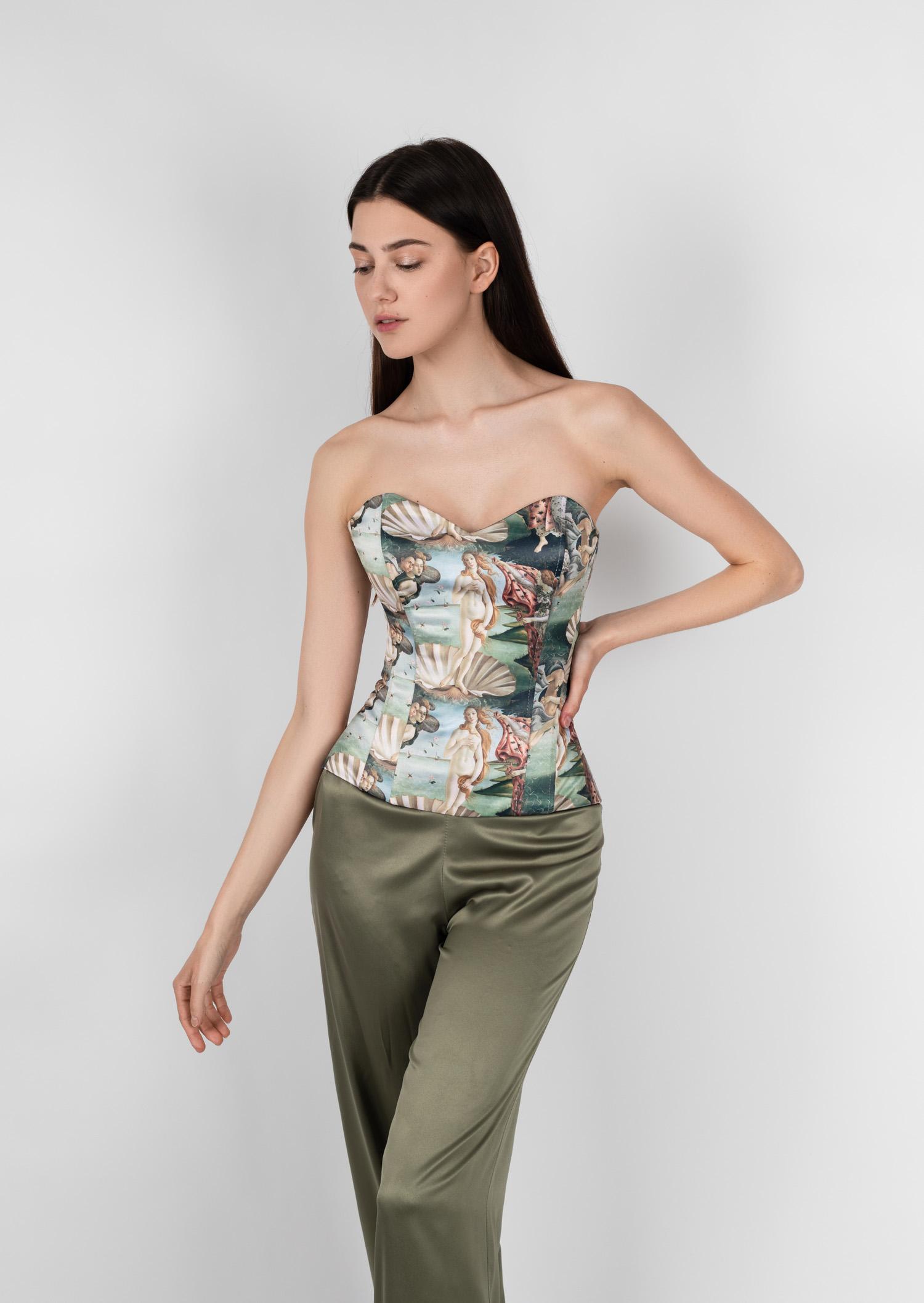 venus full corset historical vintage