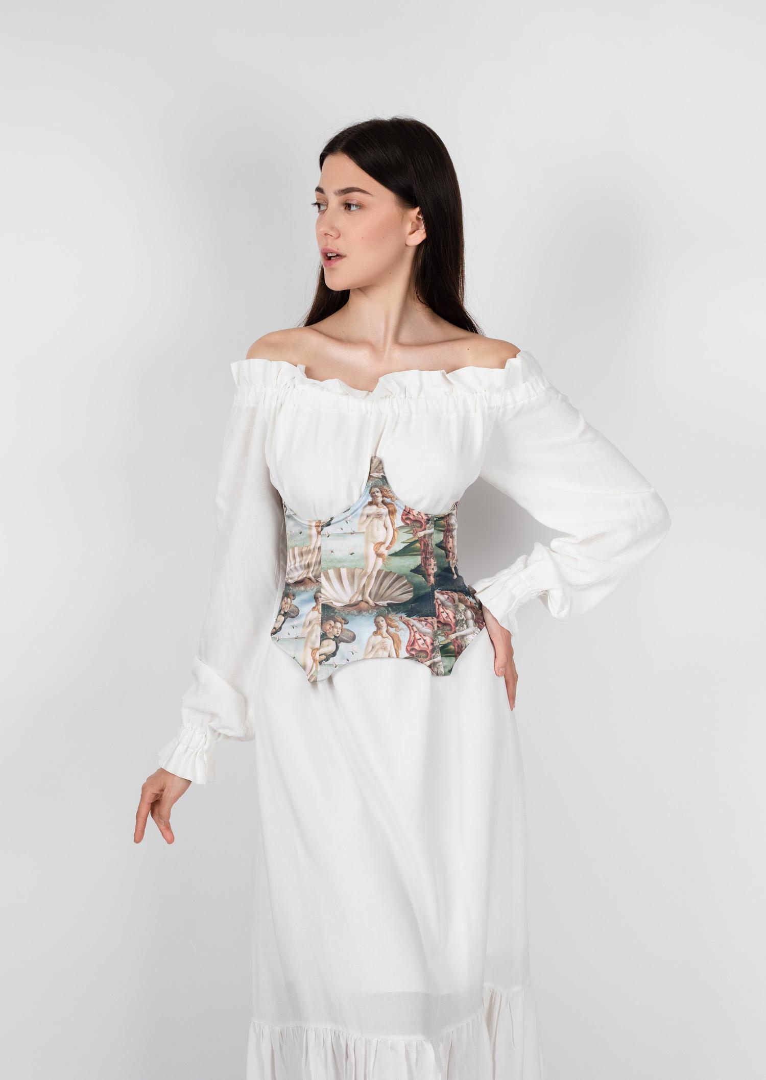 venus underbust corset historical vintage